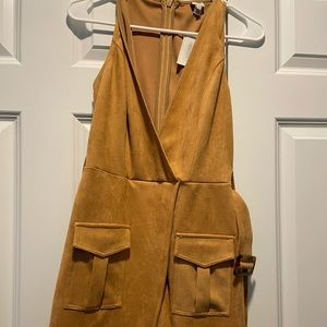 River Island Suede Tan Dress With Tags